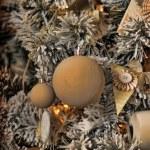 Christmas background in retro style — Stock Photo