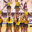 Cheerleading Championship Action — Stockfoto