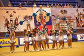 Cheerleading Championship Action — Stock Photo
