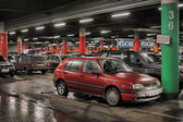 Underground parking in the shopping center Auchan, St. Petersburg, Russia — Foto de Stock