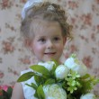 Stock Photo: Princess with flowers