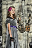Small girl witch — Stock Photo