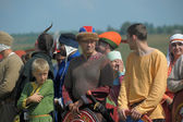 People at Annual International Festival of Military History — Stock Photo