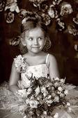 Vintage portrait of girl — Stock Photo