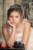 Vintage portrait of girl — ストック写真