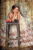 Vintage portrait of girl — Foto Stock