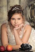 Vintage portrait of girl — Stock fotografie