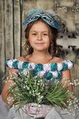 Vintage retrato de menina — Fotografia Stock