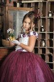 Vintage portrait of girl — Foto de Stock