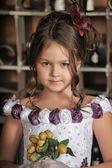Vintage portrait de jeune fille — Photo