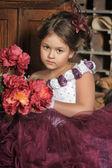 Vintage portrait of girl — Stockfoto