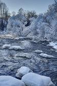 冬天河 — 图库照片