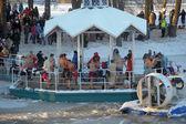 Epiphany bathing in Russia — Stok fotoğraf