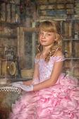 少女のヴィンテージの肖像画 — ストック写真