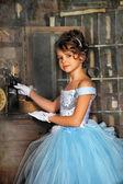 Vintage portrait de jeune fille — Foto de Stock