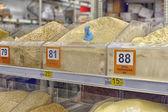 Shelves with flour — Stock Photo