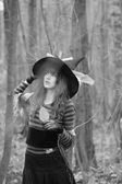 Witch in the forest — Stock Photo