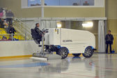 The machine for resurfacing ice in stadium. — Stock Photo
