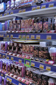 Hair dyes at a store — Foto de Stock