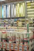 Rolls of wallpaper in the store — Foto Stock