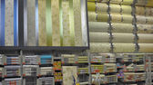 Rolls of wallpaper in the store — Foto de Stock