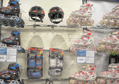 Roller skates for kids in store — Stock Photo