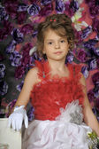 A young girl in costume princess. — Stock Photo