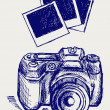 Photo camera illustration — Stock Photo