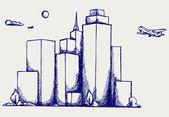 Panoramic city — Stock Photo