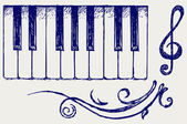Piano. Doodle style — Stock Photo