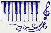 Piano. Doodle style — Stock Photo