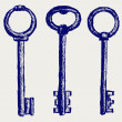 Stockfoto: Keys sketch