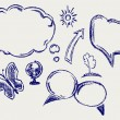 Hand drawn speech bubbles — Stock Photo #12664004