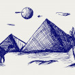 Photo: Egypt. Doodle style