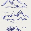 Various high mountain peaks — Stock Photo #12664050