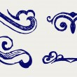 Calligraphic design element and page decoration — Stock Photo