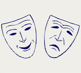 Classic comedy-tragedy theater masks — Foto de Stock