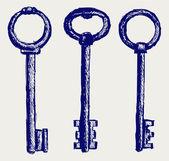 Bosquejo de llaves — Foto de Stock