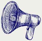 Illustration of megaphone — Stock Photo