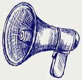 Illustration of megaphone — Stock Photo