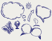 Hand drawn speech bubbles — Stock Photo