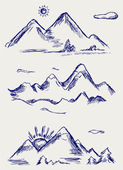 Various high mountain peaks — Stock Photo