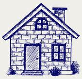 Casa de ilustración — Foto de Stock