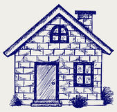 Illustratie huis — Stockfoto