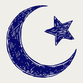 Media luna símbolo islámico — Foto de Stock