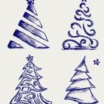 Abstract Christmas tree and star — Stock Photo #13578927