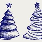 Abstract Christmas tree and star — Stock Photo #13578929