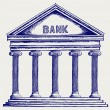 Stock Photo: Bank. Colonnade