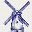 Windmill sketch - Stock fotografie
