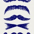 Stock Photo: Mustache sketch